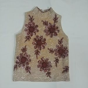 Vintage 1960s Valentina Beaded Wool Evening Top